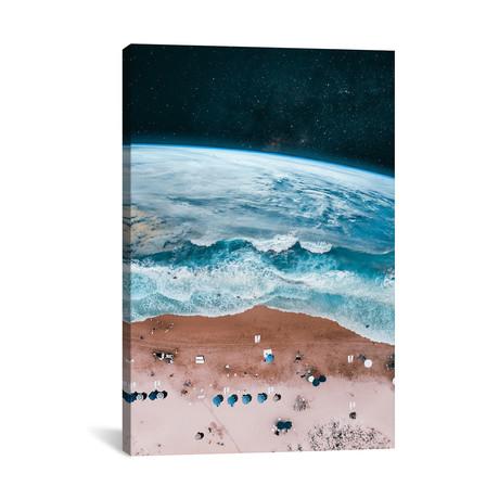 """Space Beach // Hüseyin Şahin (26""""W x 18""""H x 0.75""""D)"""
