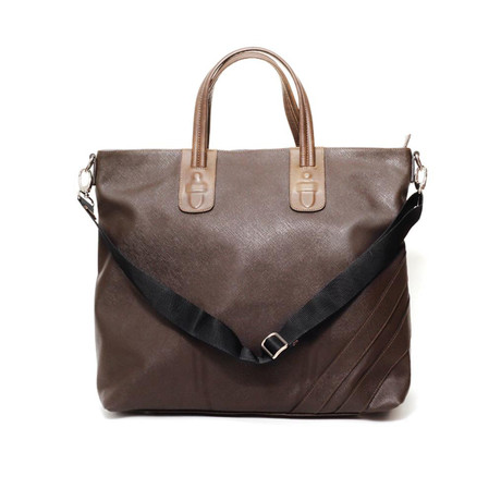 Terrance Zippered Tote // Brown