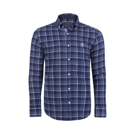 Rookie Checkered LS // Indigo (S)