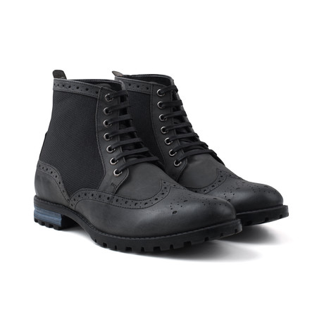 Waxy Work Boot // Black