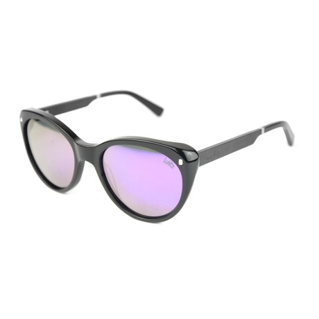 Dolly P. Polarized Sunglasses // Shiny Black Acetate