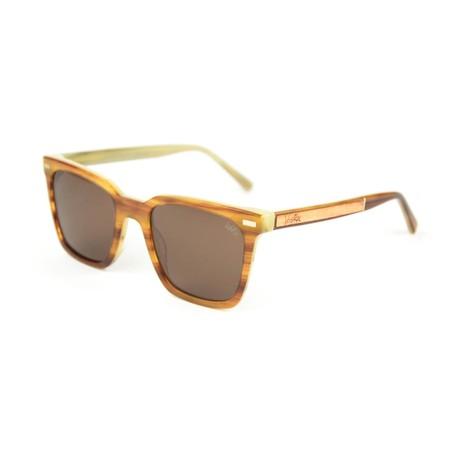 Nixon Polarized Sunglasses // Wood Grain Acetate