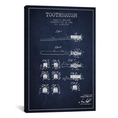 """Toothbrush // Navy Blue (26""""W x 18""""H x 0.75""""D)"""