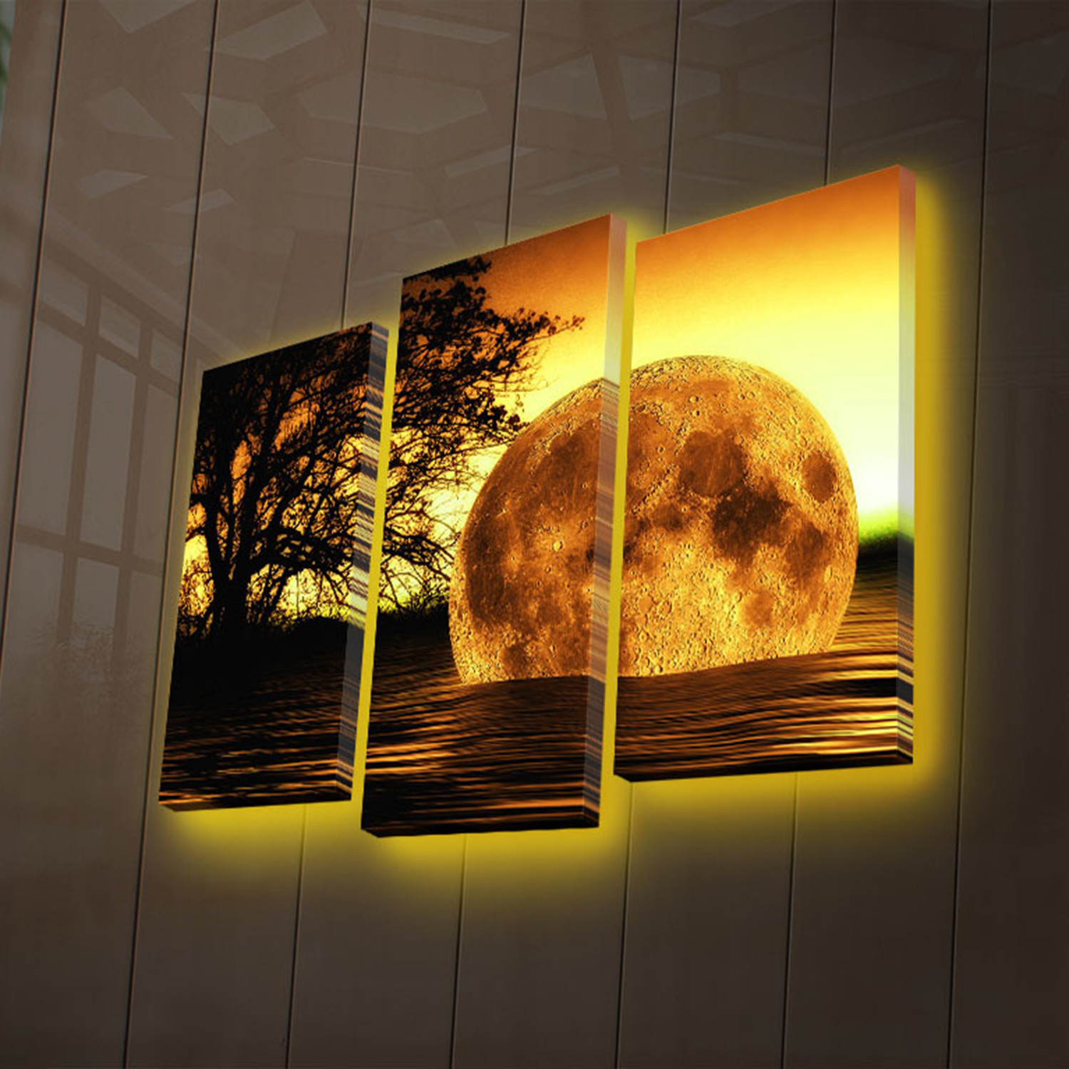 Moon Set - LED Canvas Art - Touch of Modern