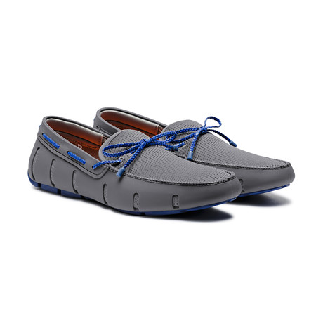 Braided Lace Loafer // Gray + Blitz Blue (US: 7)