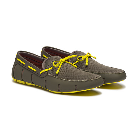 Braided Lace Loafer // Khaki + Yellow (US: 7)