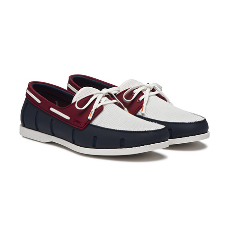 Boat Loafer // Navy + Red (US: 7)