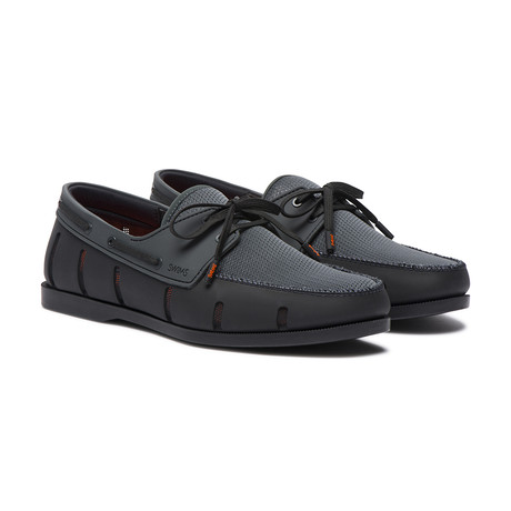 Boat Loafer // Black + Anthracite (US: 7)