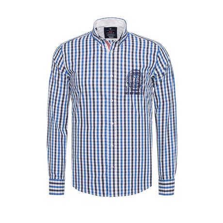 Stripe Pocket Shirt // Blue