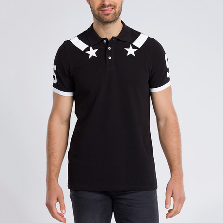 James Short Sleeve Polo // Black