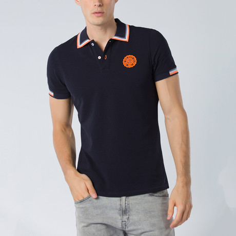 Short Sleeve Polo // Navy