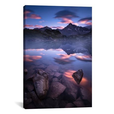 "Sunrise At Petarel Lake (26""W x 18""H x 0.75""D)"
