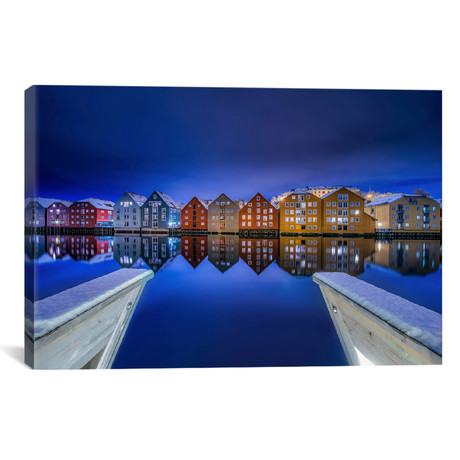 "The Blue Mood Of Trondheim (18""W x 26""H x 0.75""D)"