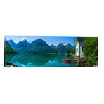 """The Glacier Lake // Christer Olsen (36""""W x 12""""H x 0.75""""D)"""