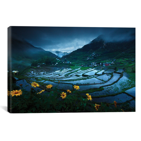 "Batad Rice Terraces // Geb Bunado (18""W x 12""H x 0.75""D)"