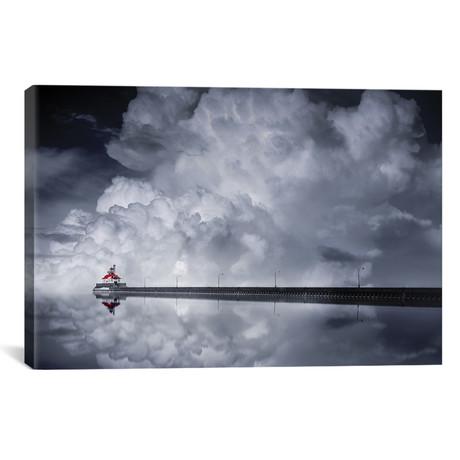 """Cloud Descending (18""""W x 26""""H x 0.75""""D)"""