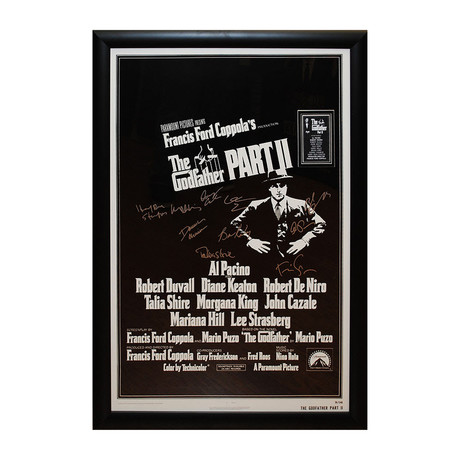 Signed Movie Poster // The Godfather Part II