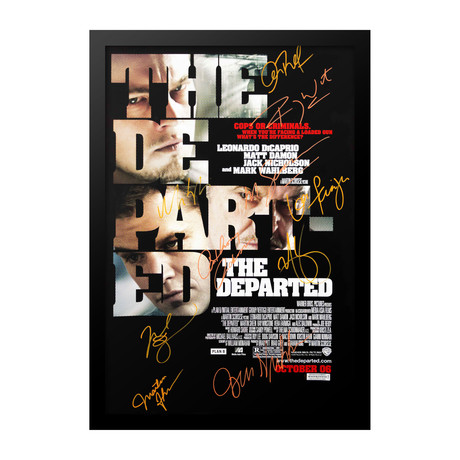 Signed Movie Poster // The Departed