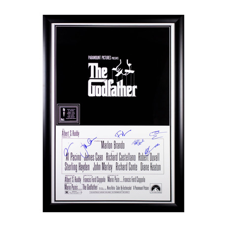 Signed Movie Poster // The Godfather