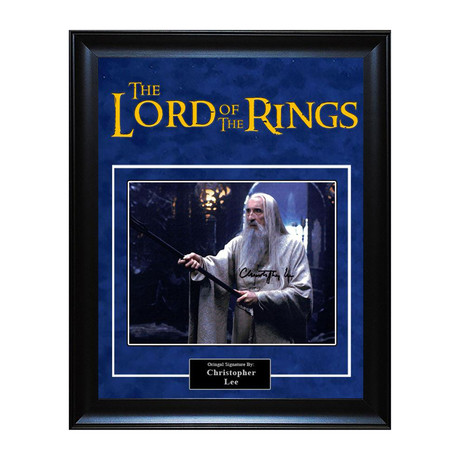 Signed Artist Series // Lord of the Rings // Christopher Lee