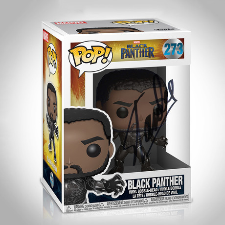 Black Panther Funko Pop // Stan Lee Signed