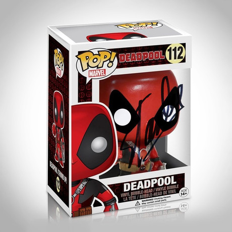 Deadpool Thumbs Up Funko Pop // Stan Lee Signed