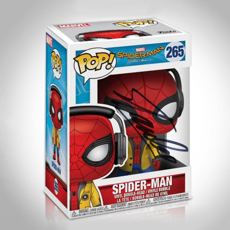 Spiderman With Headphones Funko Pop // Stan Lee Signed