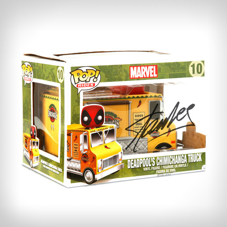 Deadpool Chimichanga Funko Pop Rides // Stan Lee Signed