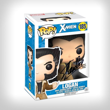 X-Men Logan Funko Pop // Stan Lee Signed