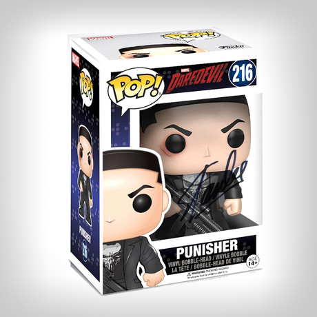 Punisher Daredevil TV Series Funko Pop // Stan Lee Signed