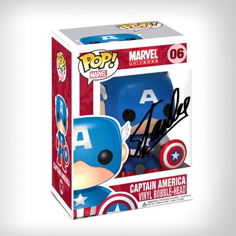 Captain America Funko Pop // Stan Lee Signed