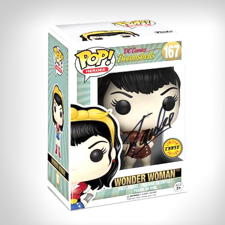 Wonder Woman Bombshell Chase Funko Pop // Stan Lee Signed