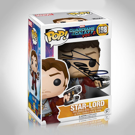 Star-Lord Guardians Of The Galaxy Funko Pop // Stan Lee Signed