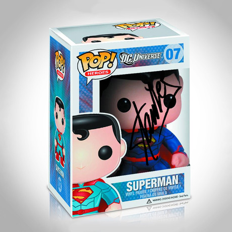 Superman Funko Pop // Stan Lee Signed