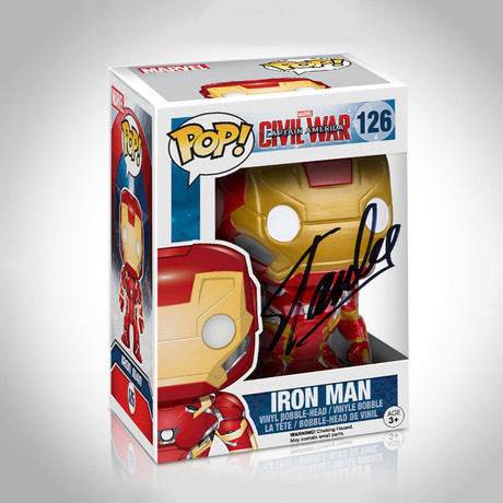 Iron Man Funko Pop // Stan Lee Signed