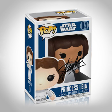 Star Wars Princess Leia Funko Pop // Stan Lee Signed