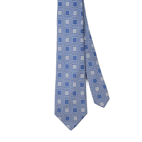 Paolo Lercara // Daniel Silk Tie // Blue + Silver Boxes