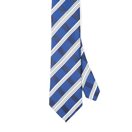 Paolo Lercara // Salvatore Silk Tie // Black + White Stripes