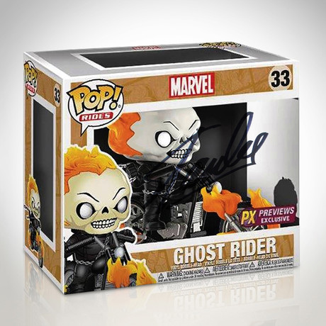 Ghost Rider Funko Pop Rides // Stan Lee Signed // PX Exclusive