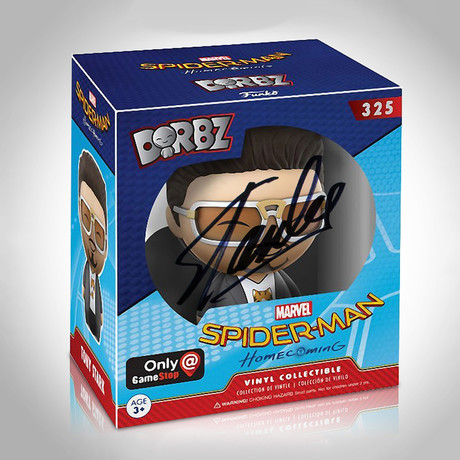 Tony Stark Funko Dorbz // Stan Lee Signed // Gamestop Exclusive