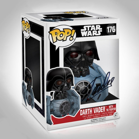 Star Wars Darth Vader In Tie Fighter Funko Pop // Stan Lee Signed