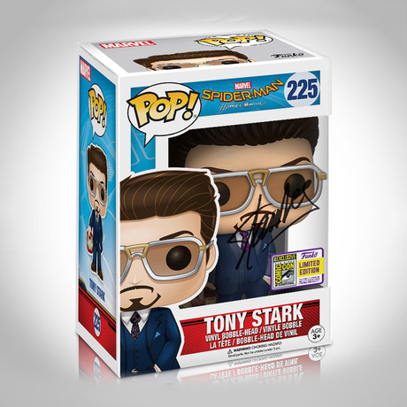 Tony Stark Suit Funko Pop // Stan Lee Signed