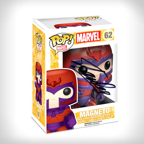 Magneto Metallic Funko Pop // Stan Lee Signed