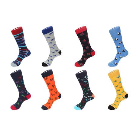 Crew Socks // Ervine // 8 Pack