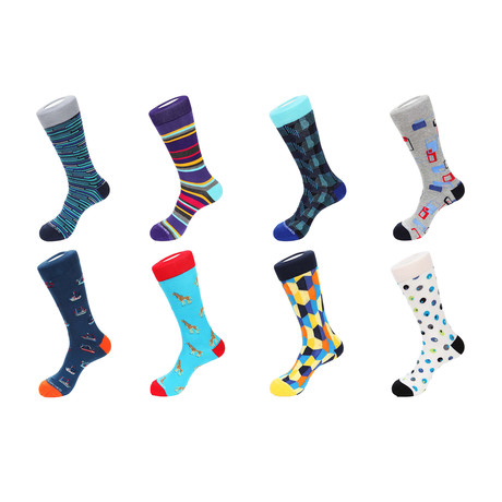Crew Socks // Garlington // 8 Pack