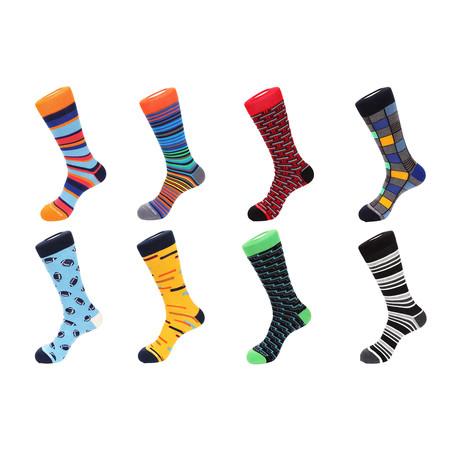 Crew Socks // Garnett // 8 Pack