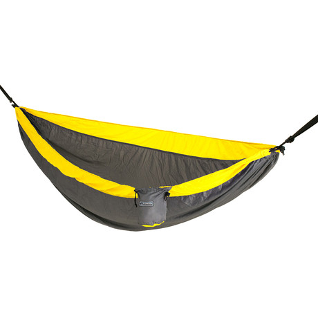 Patriot Double Hammock (Grey + Big Sky Blue)
