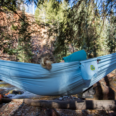 SomniSmart Recycled Single Hammock (Big Sky Blue)