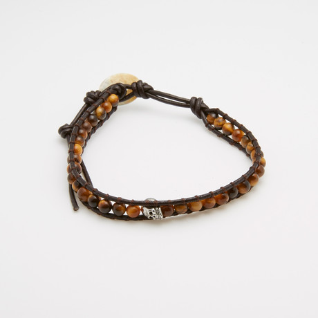 Shamballa Tiger Eye Beaded Bracelet
