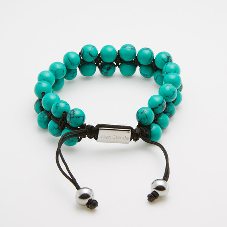 Double Striped Bracelet // Blue + Turquoise